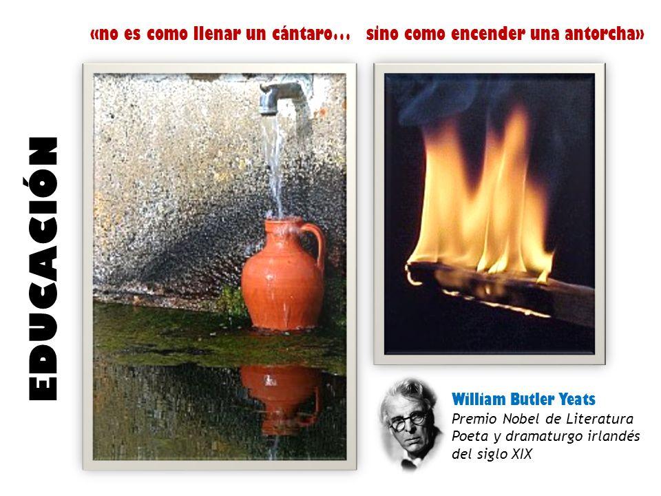 «no es como llenar un cántaro…sino como encender una antorcha» EDUCACIÓN William Butler Yeats Premio Nobel de Literatura Poeta y dramaturgo irlandés del siglo XIX
