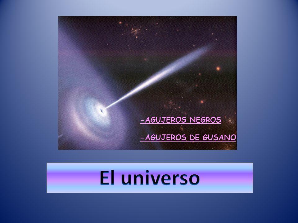 El universo -AGUJEROS NEGROS -AGUJEROS DE GUSANO
