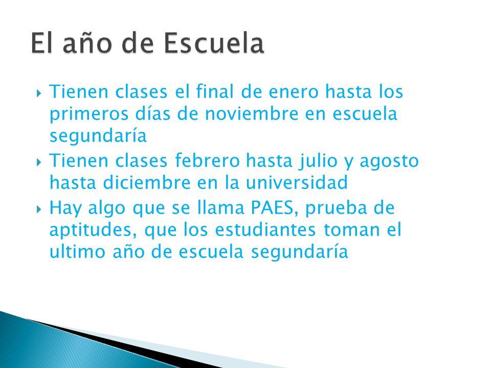 Tienen clases el final de enero hasta los primeros días de noviembre en escuela segundaría Tienen clases febrero hasta julio y agosto hasta diciembre