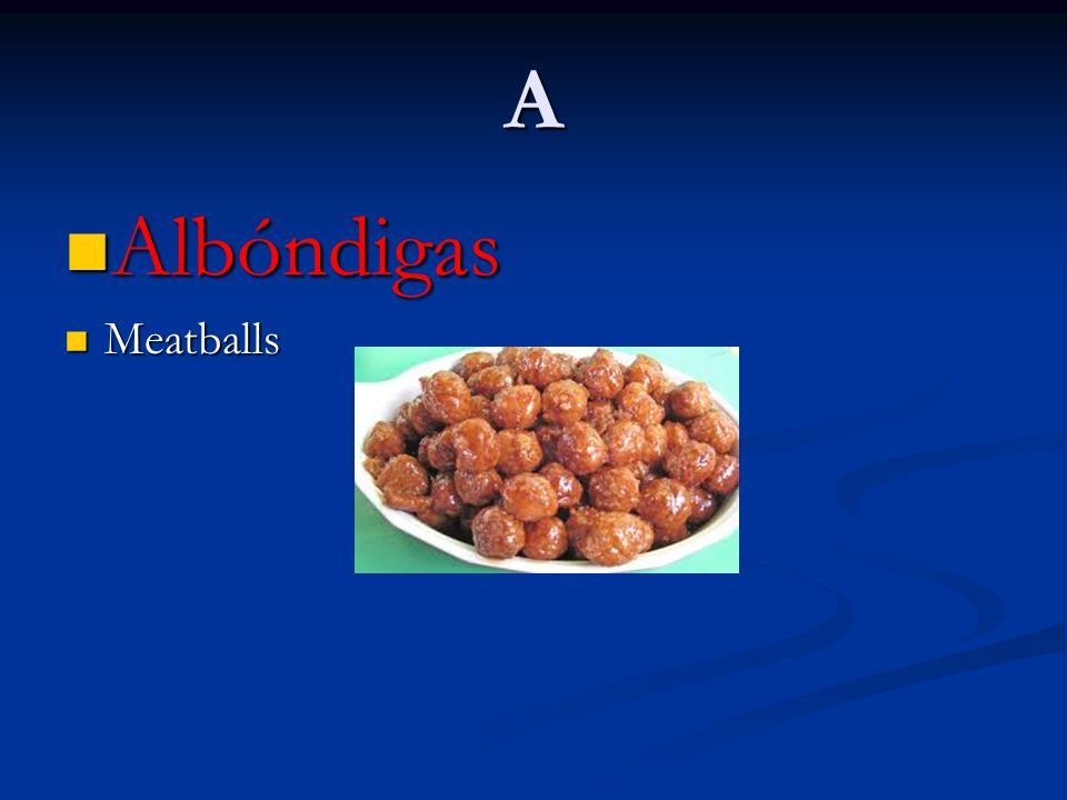 A Albóndigas Albóndigas Meatballs Meatballs