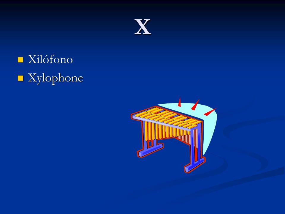 X Xilófono Xylophone Xylophone