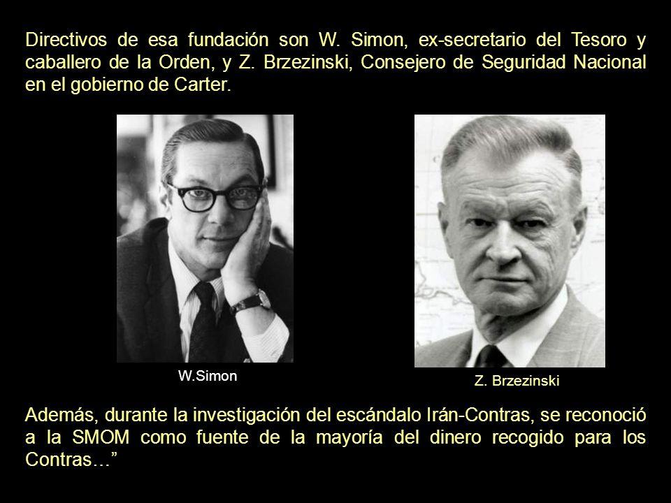 La SMOM ha colaborado con la American Foundation [hacia finales de los 80], recaudando 10 millones de dólares para fuerzas anticomunistas en Polonia, Afganistan y Vietnam.SMOM ha colaborado con la American Foundation