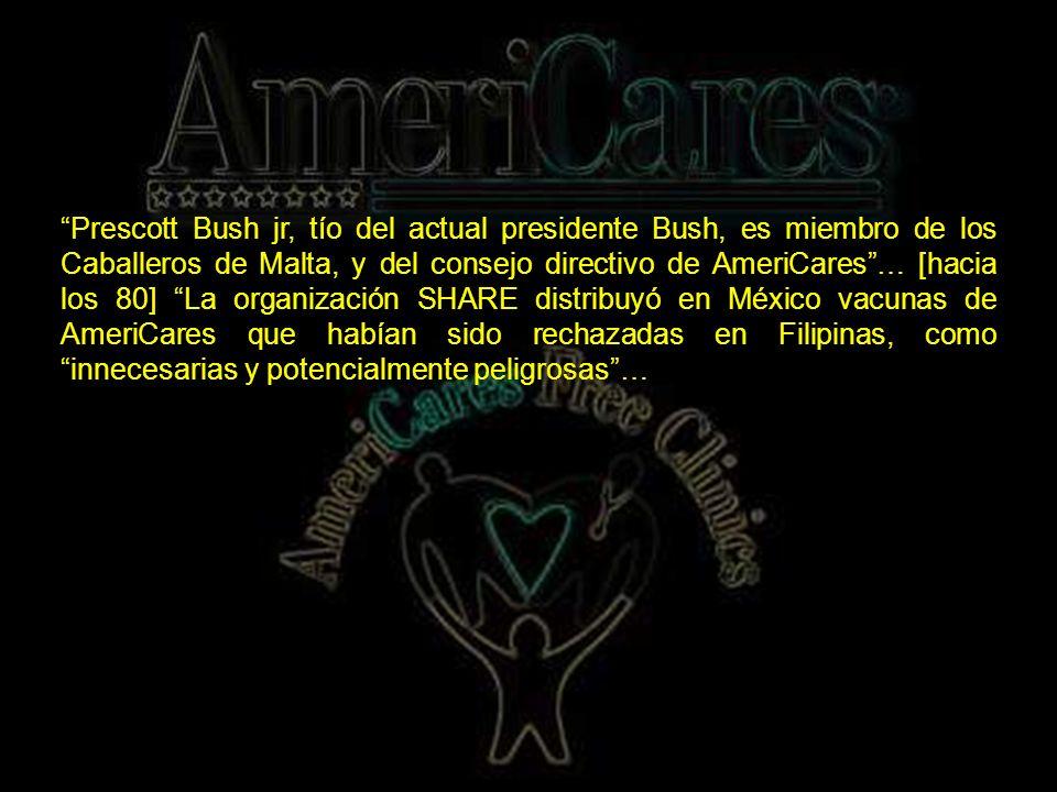 AmeriCares trabaja muy relacionado con los Caballeros de Malta.