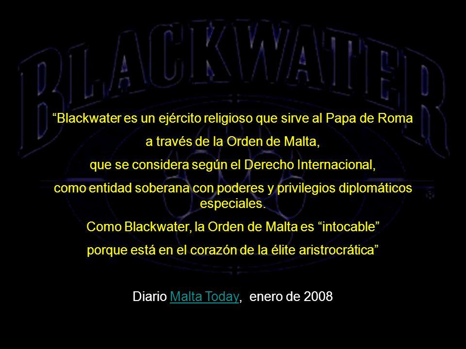 ORDEN DE MALTA Y BLACKWATER