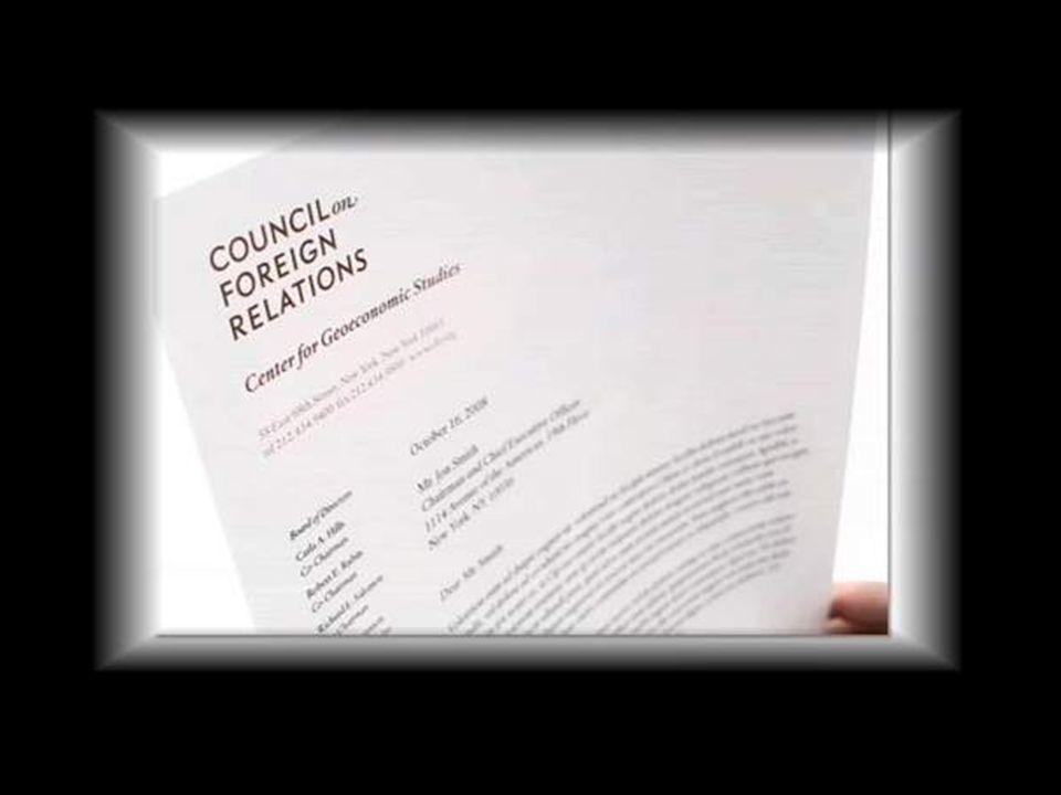 El Council [CFR] aparece como el centro virtual de una telaraña de poder que abraza el mundo.