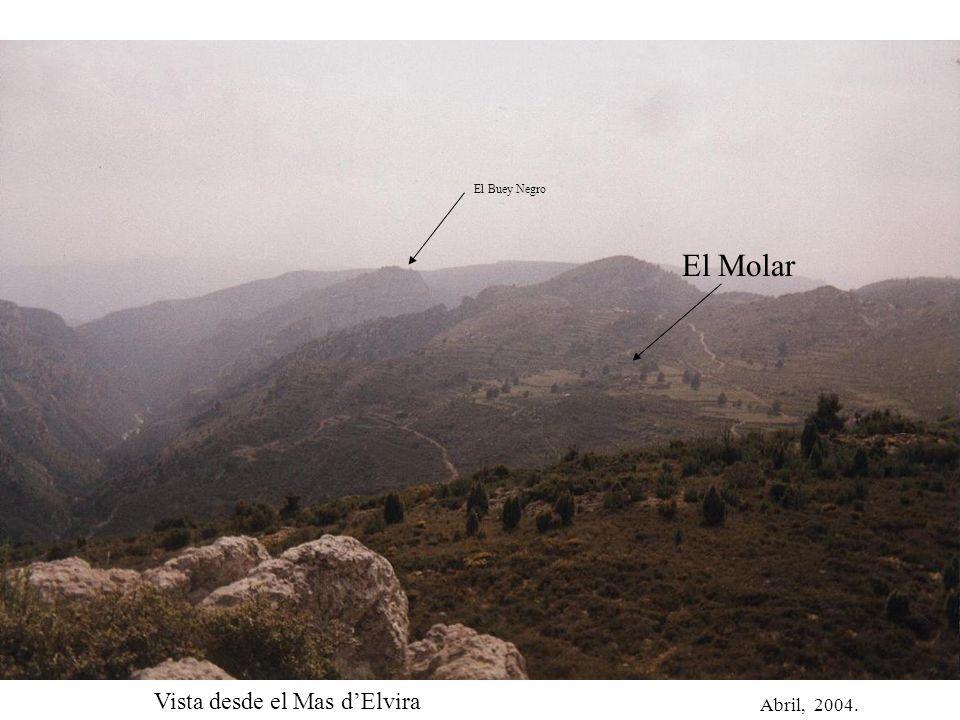 Abril, 2004. El Molar El Buey Negro Vista desde el Mas dElvira