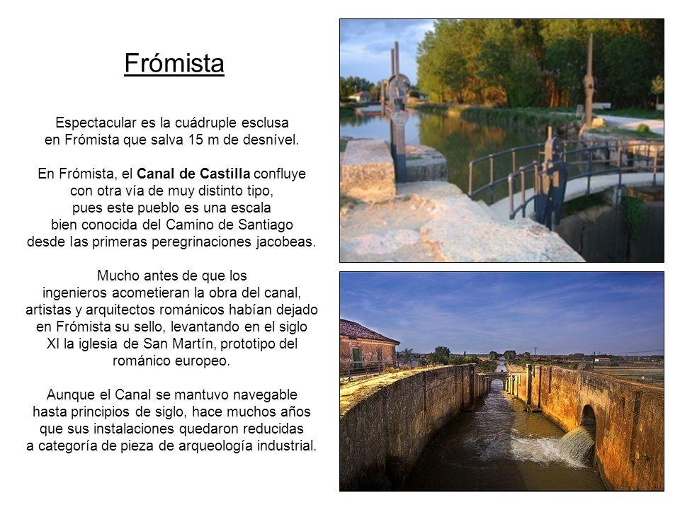 El canal del Norte Concluye en Ribas de Campos, donde se inicia el tramo conocido como ramal de Campos.