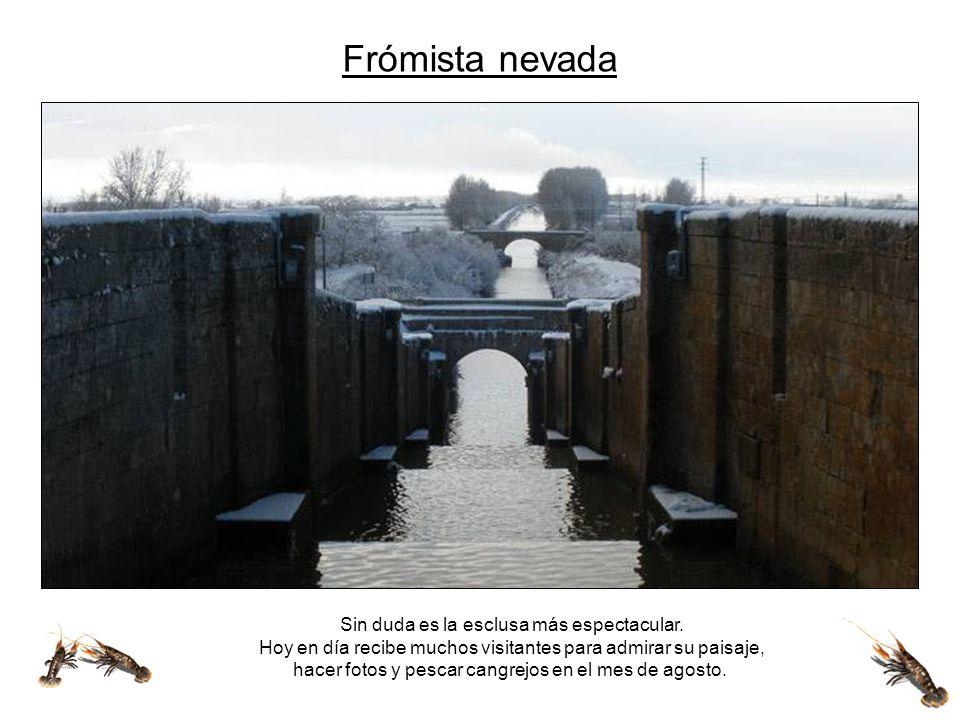 Espectacular es la cuádruple esclusa en Frómista que salva 15 m de desnível.
