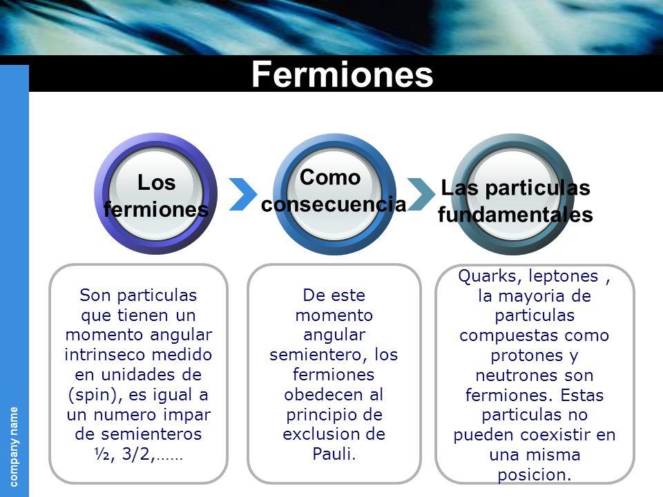 company name De este momento angular semientero, los fermiones obedecen al principio de exclusion de Pauli.