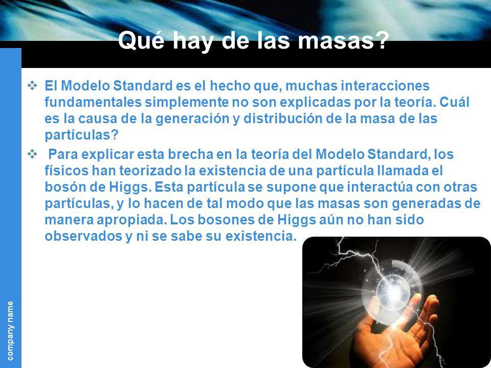 company name Qué hay de las masas.