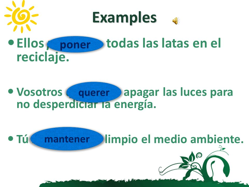 Irregular Verbs The following verbs have irregular future stems: caber cabr-querer querr- decir dir-saber sabr- haber habr-salir saldr- hacer har-tene