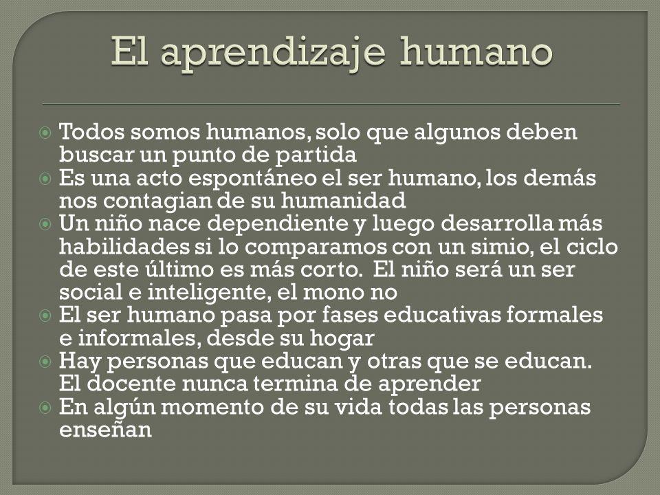 Todos somos humanos, solo que algunos deben buscar un punto de partida Es una acto espontáneo el ser humano, los demás nos contagian de su humanidad U