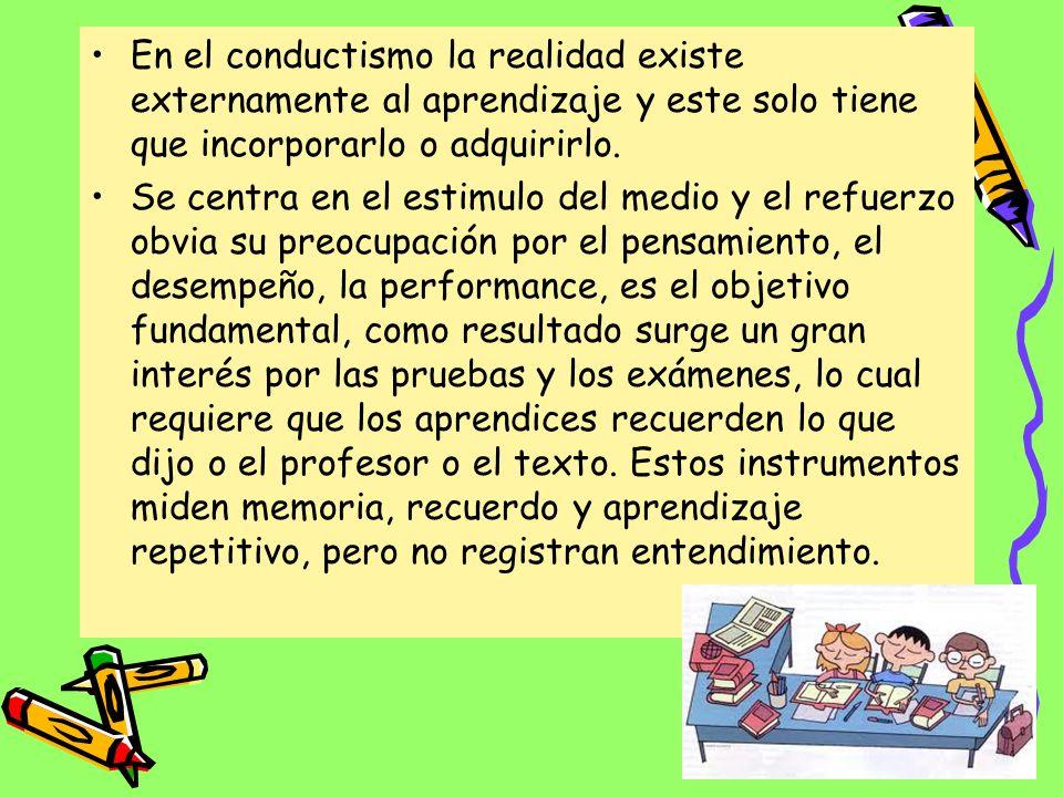 Impacto del Conductismo en La Pedagogía Se basa en que frente a un estimulo realizado por el profesor se generan respuestas a modo de obtener un feedb