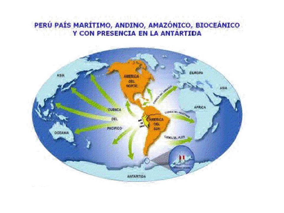 El Perú está ubicado en el hemisferio sur, con 6.940 km de fronteras (Bolivia, Brasil, Chile, Colombia y Ecuador).