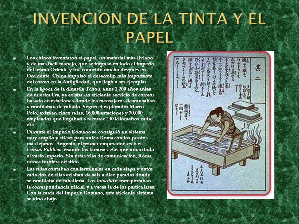 Los chinos inventaron el papel, un material más liviano y de más fácil manejo, que se impuso en todo el imperio del lejano Oriente y fue conocido much