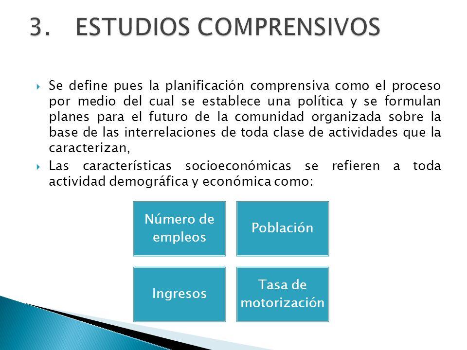Se define pues la planificación comprensiva como el proceso por medio del cual se establece una política y se formulan planes para el futuro de la com