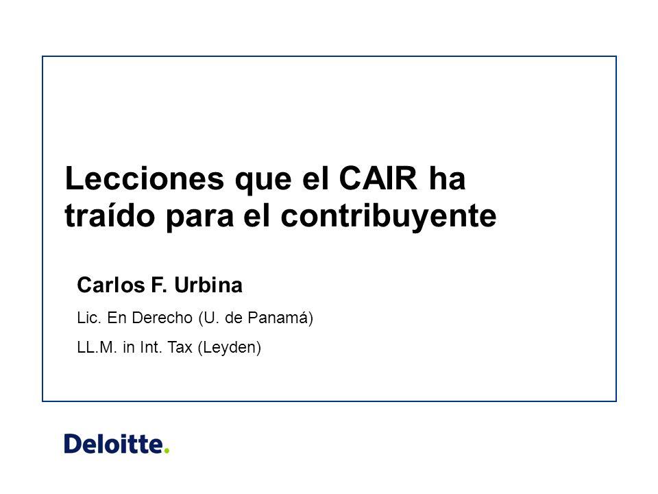 Lecciones que el CAIR ha traído para el contribuyente Carlos F.