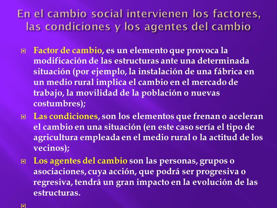 Modificación o variación de las estructuras sociales que se hallan incorporadas a normas, valores, productos y símbolos culturales.