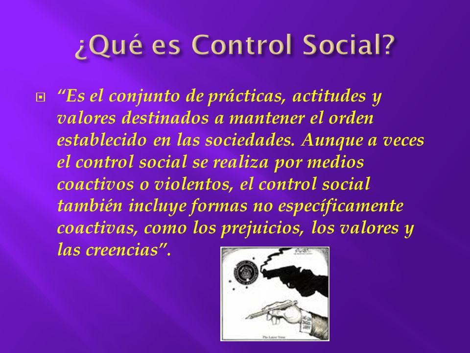 La paternidad científica de la expresión Control Social pertenece al sociólogo norteamericano EDWARD ROSS, quién la utilizó por primera vez como categoría enfocada a los problemas del orden y la organización de la sociedad.