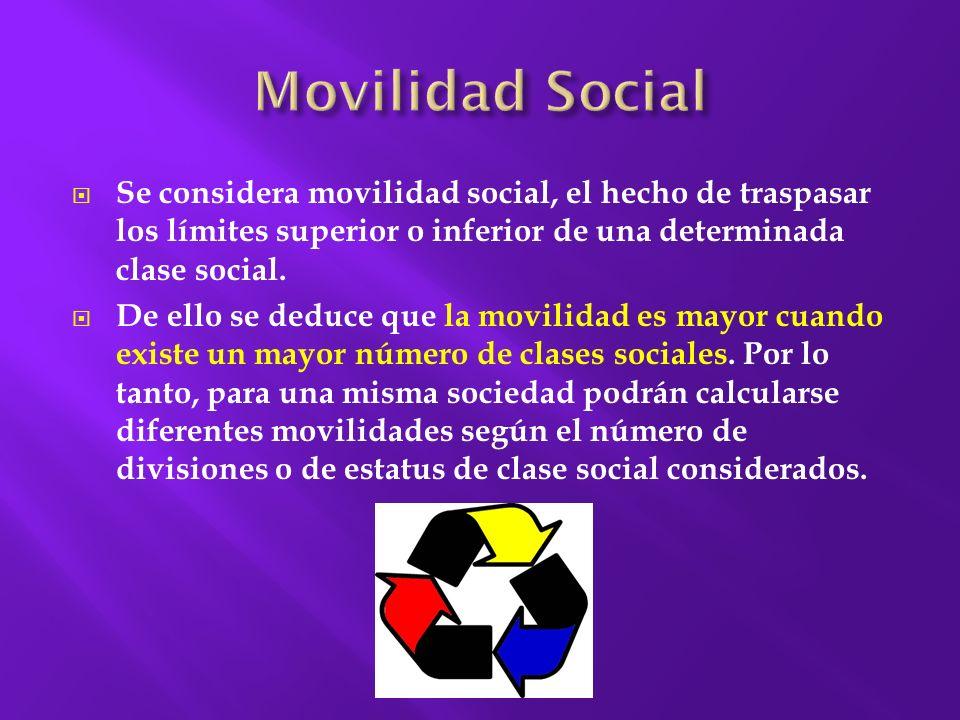 Sorokin define la movilidad social como el paso de los individuos o grupos de una posición social a otra.