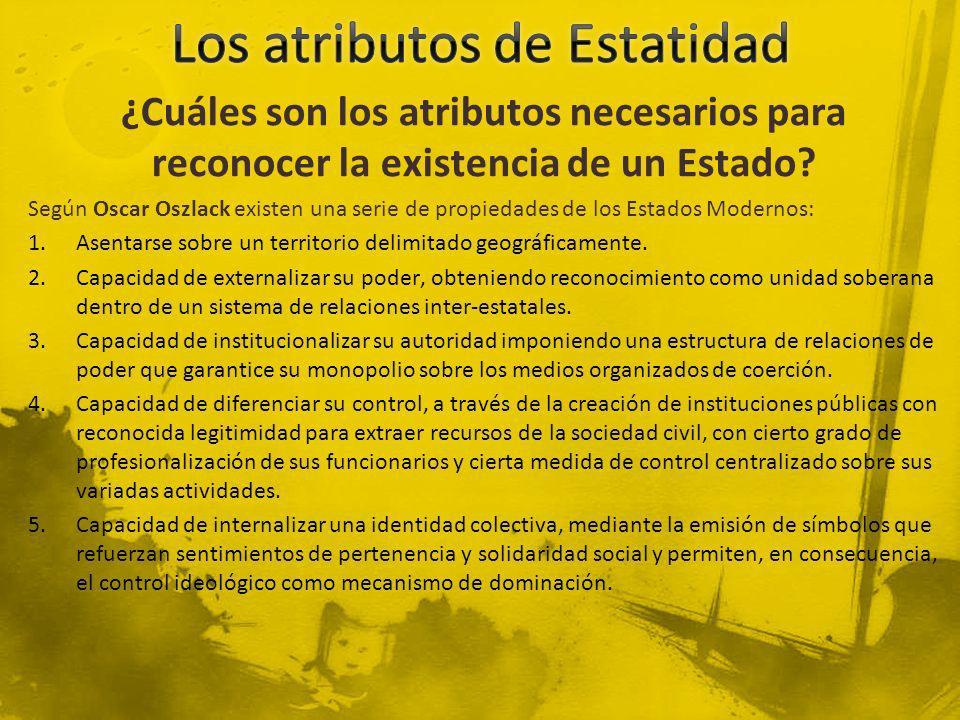 Aspectos Políticos En 1836 el territorio argentino es reconocido por España como una nación soberana.