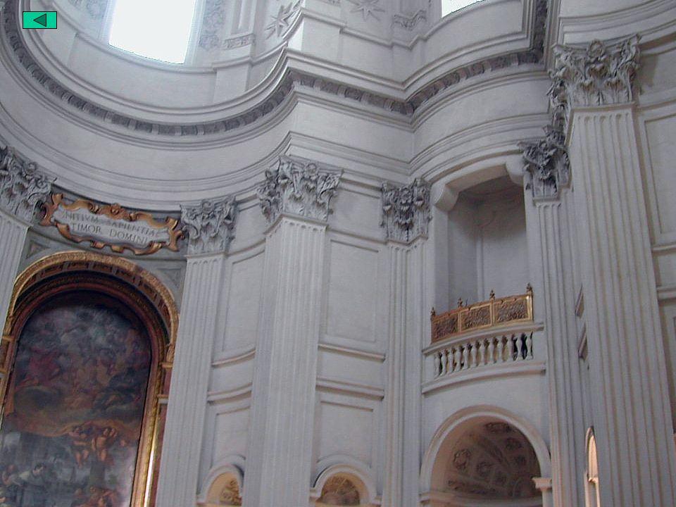 El Barroco Italiano: Arquitectura Borromini San Ivo alla Sapiencia · Único encargo papal. Homenaje del Cristianismo a la Sabiduría · Espacio delimitad