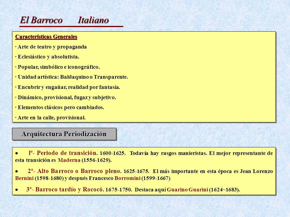El Barroco Características Generales · Arte de teatro y propaganda · Eclesiástico y absolutista. · Popular, simbólico e iconográfico. · Unidad artísti