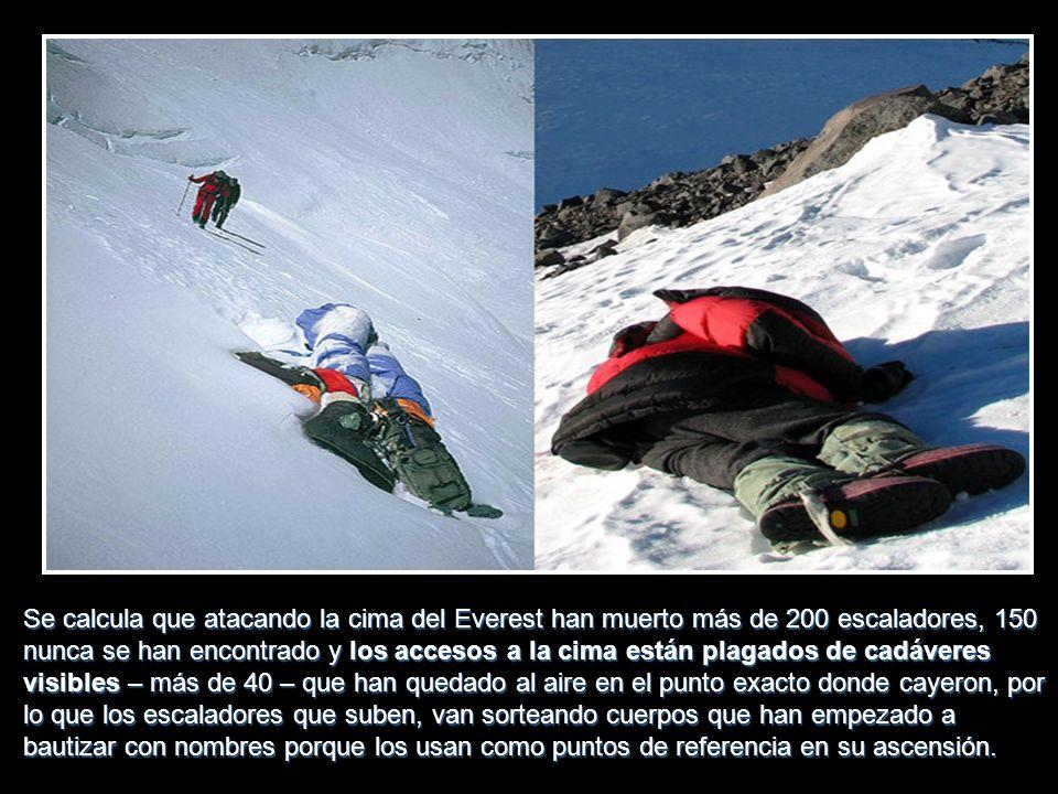 Si un escalador no puede levantarse afectado por mal de altura, lo único que se puede hacer es darle una asistencia médica muy limitada, pero la única