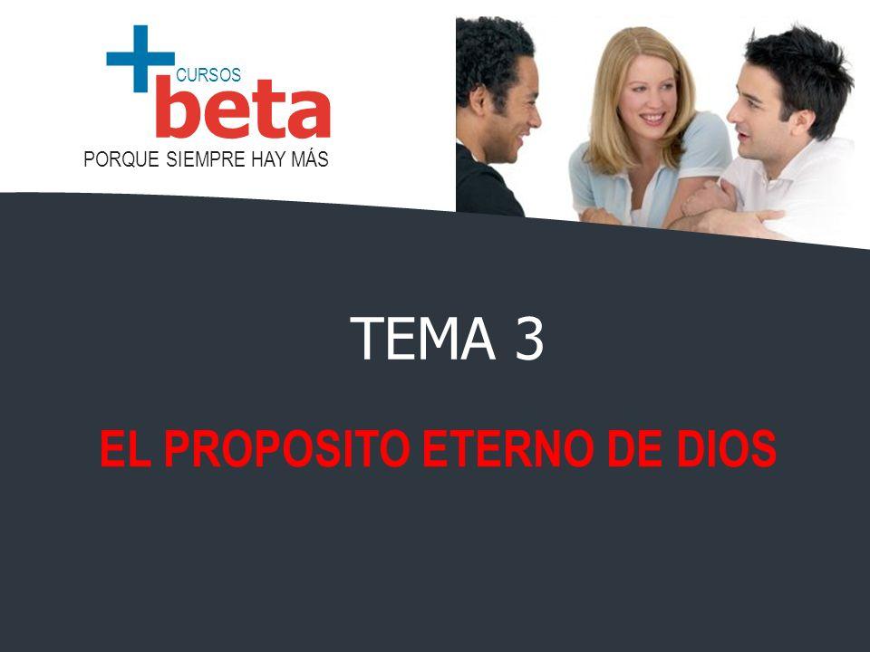 CURSOS PORQUE SIEMPRE HAY MÁS beta + EL PROPOSITO ETERNO DE DIOS TEMA 3