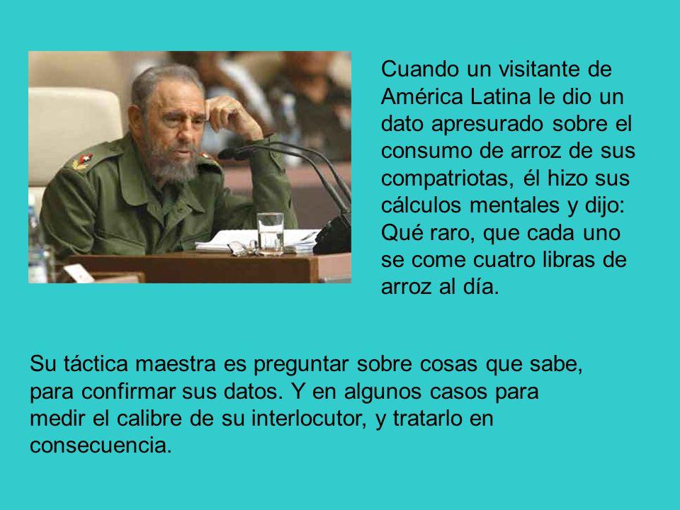Cuando un visitante de América Latina le dio un dato apresurado sobre el consumo de arroz de sus compatriotas, él hizo sus cálculos mentales y dijo: Q