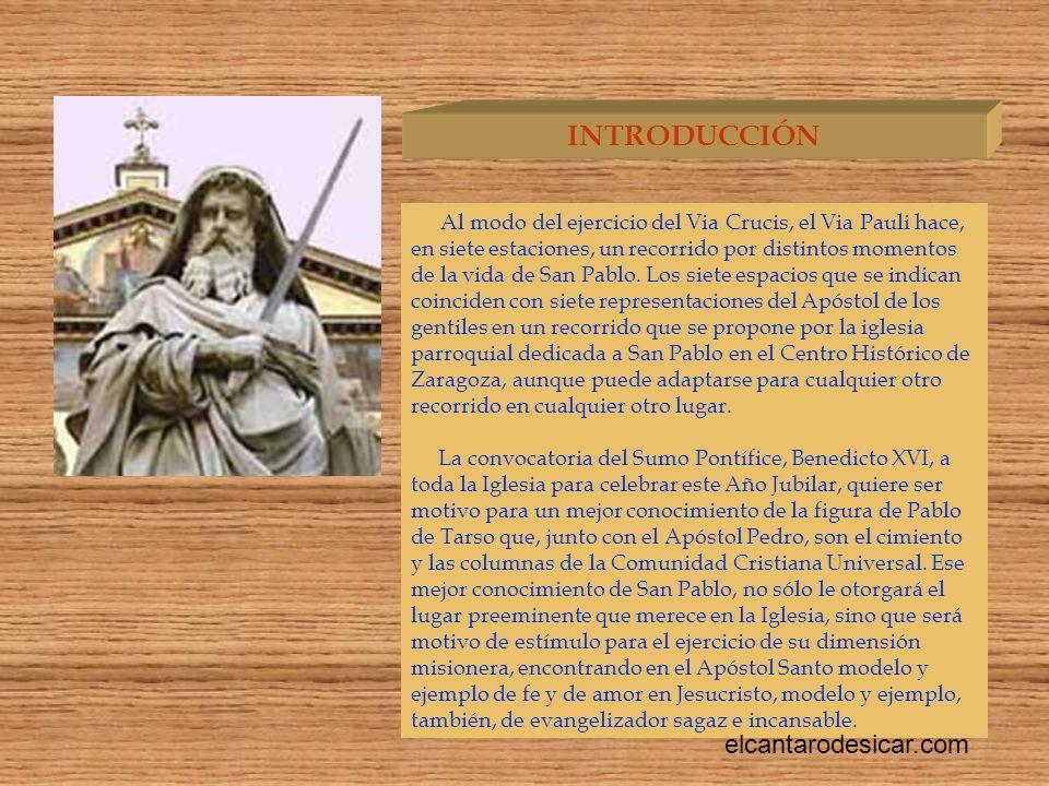 Al modo del ejercicio del Via Crucis, el Via Pauli hace, en siete estaciones, un recorrido por distintos momentos de la vida de San Pablo.