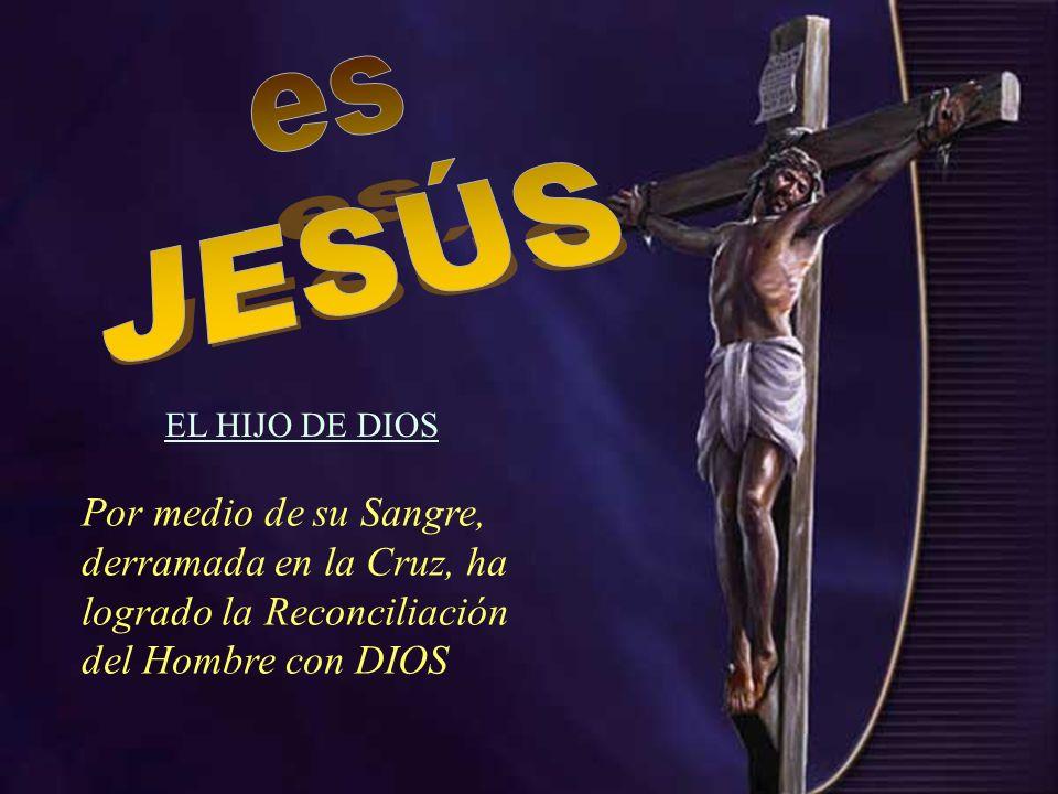 Por medio de su Sangre, derramada en la Cruz, ha logrado la Reconciliación del Hombre con DIOS EL HIJO DE DIOS