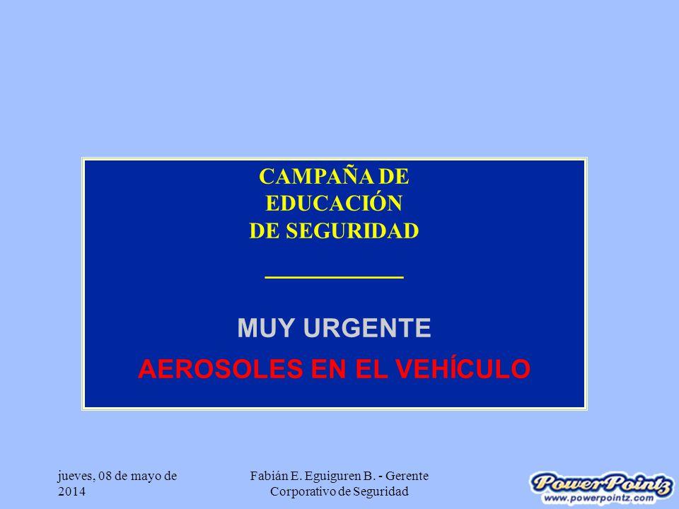 jueves, 08 de mayo de 2014 Fabián E.Eguiguren B. - Gerente Corporativo de Seguridad ¿Carga Ud.