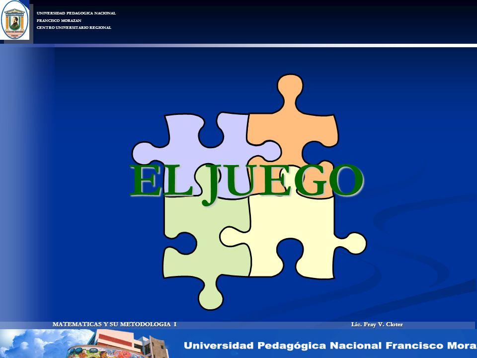 Lic. Fray V. Cloter MATEMATICAS Y SU METODOLOGIA I UNIVERSIDAD PEDAGOGICA NACIONAL FRANCISCO MORAZAN CENTRO UNIVERSITARIO REGIONAL EL JUEGO