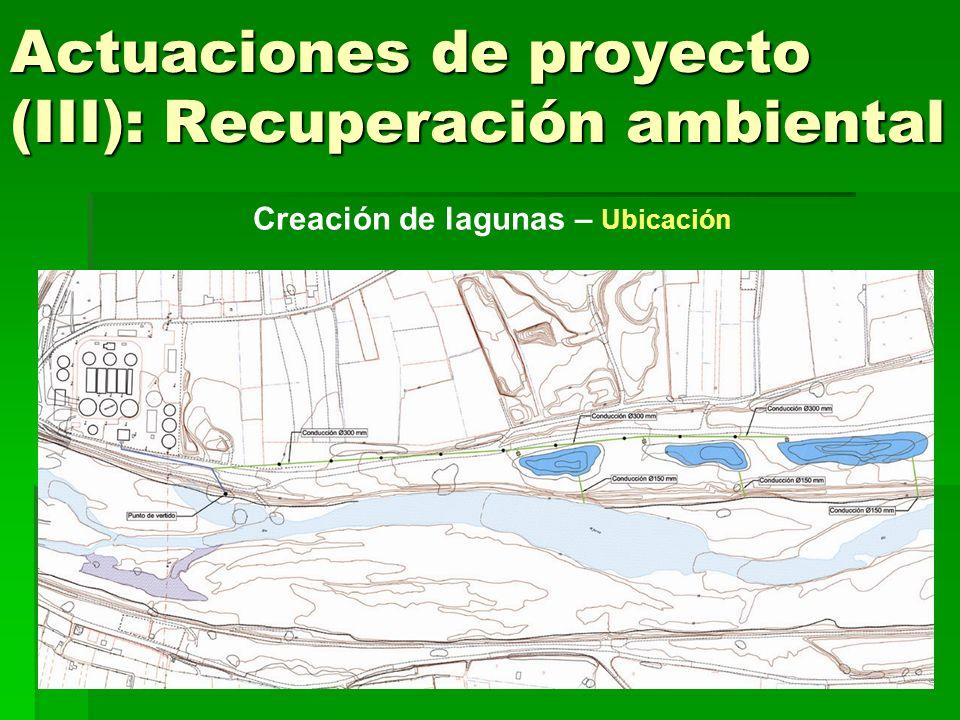 Actuaciones de proyecto (III): Recuperación ambiental Creación de lagunas - Funcionamiento del sistema