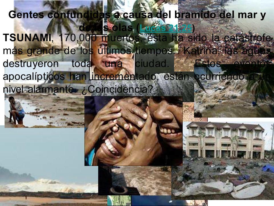 Gentes confundidas a causa del bramido del mar y de las olas ( Lucas 21:25) Lucas 21:25 TSUNAMI, 170,000 muertos, ésta ha sido la catástrofe más grand