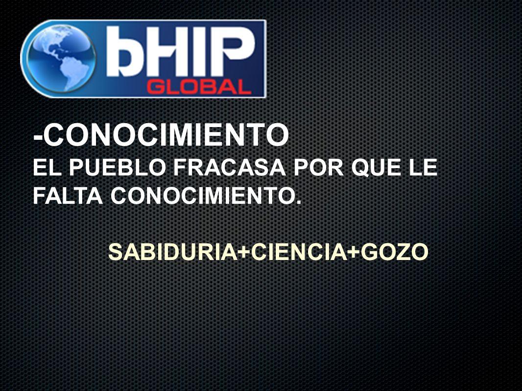 -CONOCIMIENTO EL PUEBLO FRACASA POR QUE LE FALTA CONOCIMIENTO. SABIDURIA+CIENCIA+GOZO