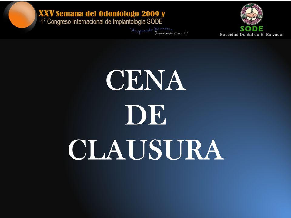 CENA DE CLAUSURA