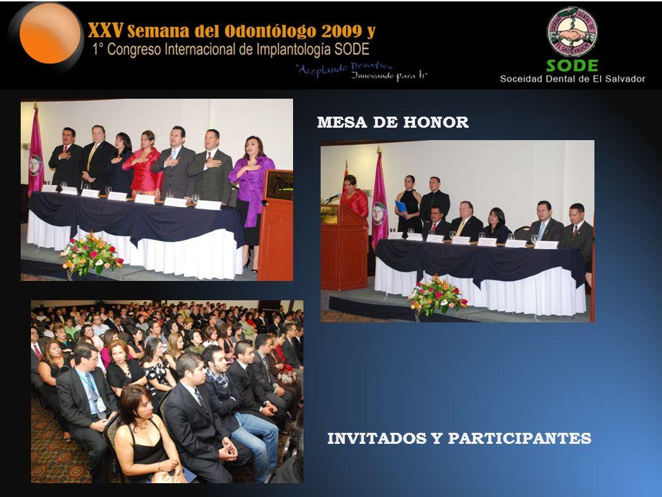 MESA DE HONOR INVITADOS Y PARTICIPANTES