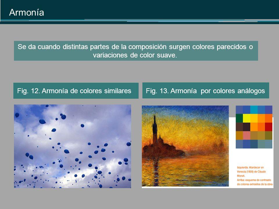 Fig.13. Armonía por colores análogos Armonía Fig.