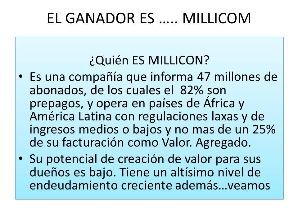 EL GANADOR ES ….. MILLICOM ¿Quién ES MILLICON.