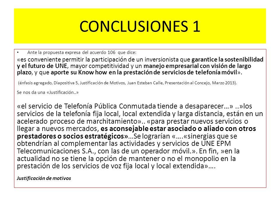 Conclusiones 2 Nos surgen las siguientes preguntas ante el diagnóstico: El problema de las telcos hoy es la oposición voz móvil/voz fija.