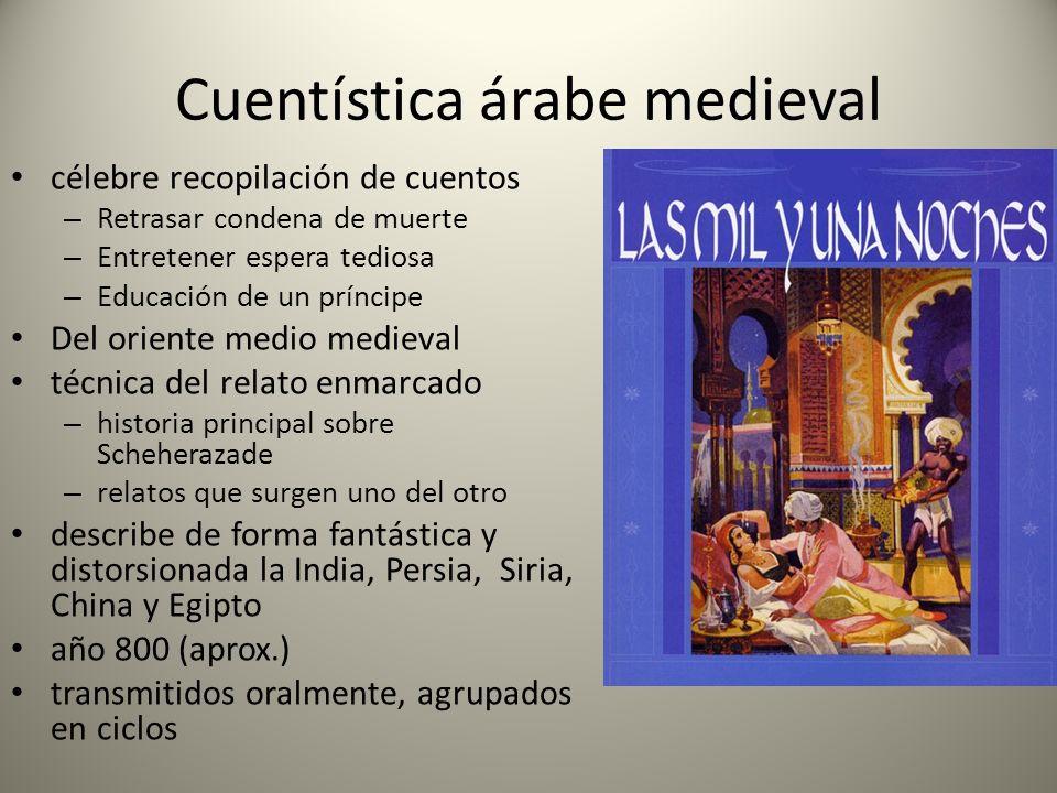 Cuentística árabe medieval célebre recopilación de cuentos – Retrasar condena de muerte – Entretener espera tediosa – Educación de un príncipe Del ori