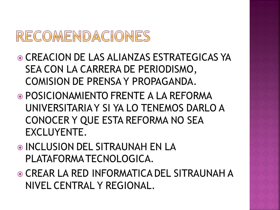 CREACION DE LAS ALIANZAS ESTRATEGICAS YA SEA CON LA CARRERA DE PERIODISMO, COMISION DE PRENSA Y PROPAGANDA.