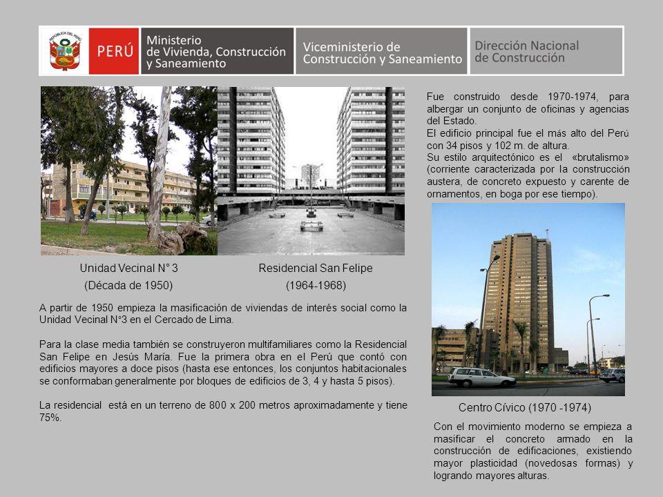Centro Cívico (1970 -1974) Residencial San Felipe (1964-1968) Fue construido desde 1970-1974, para albergar un conjunto de oficinas y agencias del Est