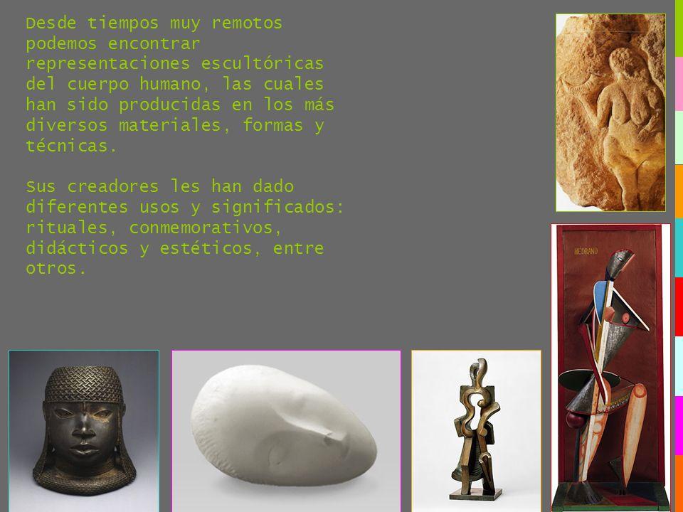 Desde tiempos muy remotos podemos encontrar representaciones escultóricas del cuerpo humano, las cuales han sido producidas en los más diversos materi