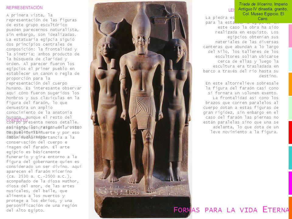REPRESENTACIÓN A primera vista, la representación de las figuras de este grupo escultórico pueden parecernos naturalista, sin embargo, son idealizadas