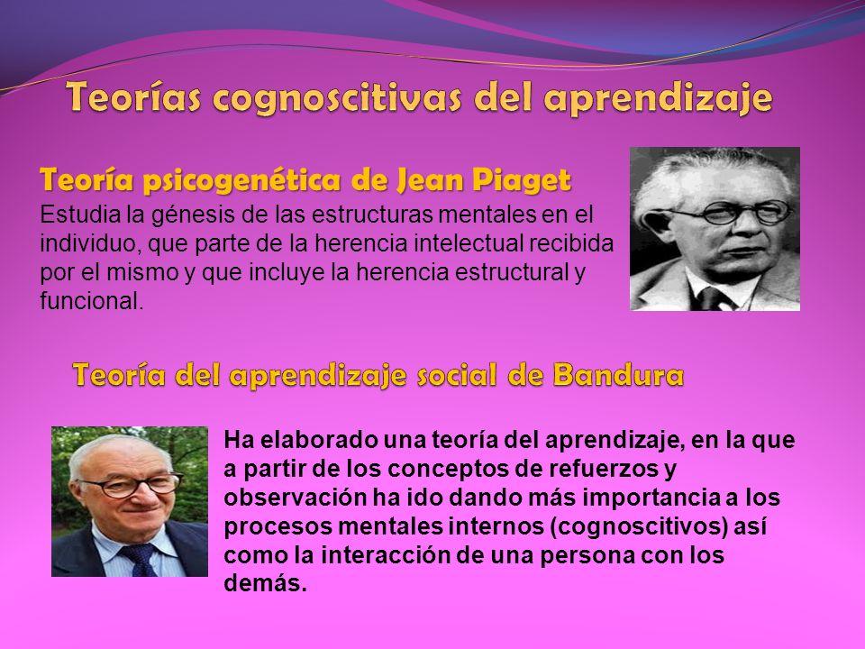 Teoría psicogenética de Jean Piaget Estudia la génesis de las estructuras mentales en el individuo, que parte de la herencia intelectual recibida por