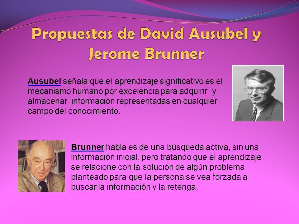 Ausubel señala que el aprendizaje significativo es el mecanismo humano por excelencia para adquirir y almacenar información representadas en cualquier