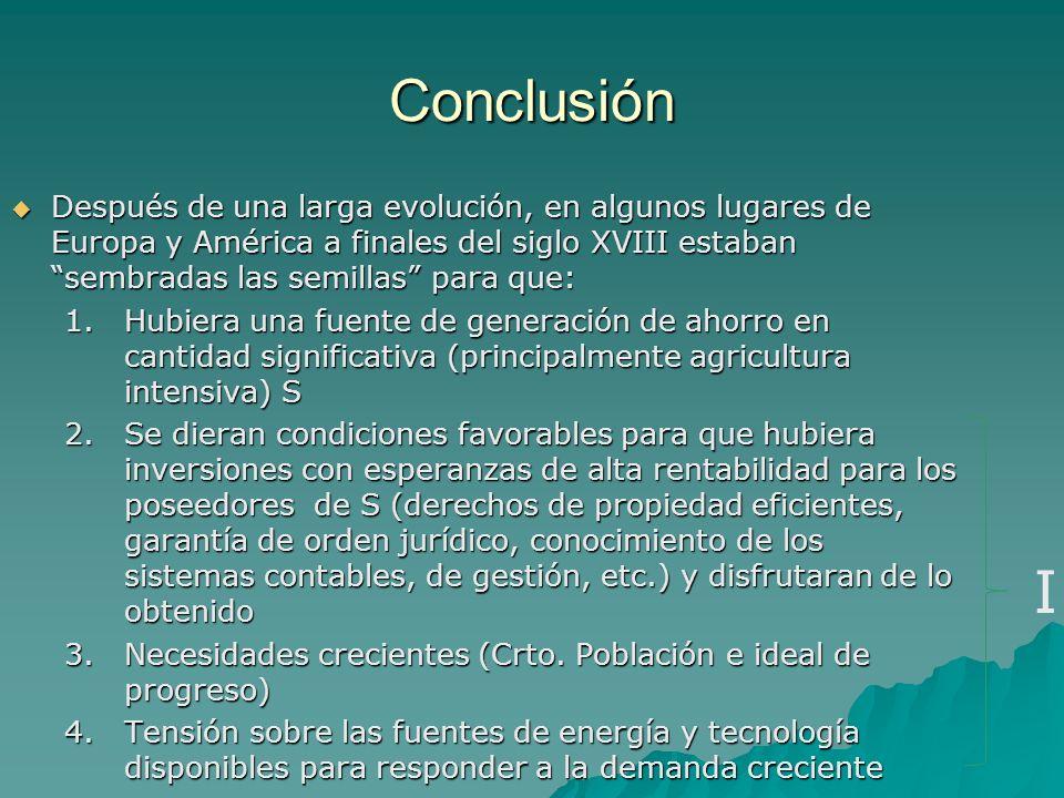 Conclusión Después de una larga evolución, en algunos lugares de Europa y América a finales del siglo XVIII estaban sembradas las semillas para que: D